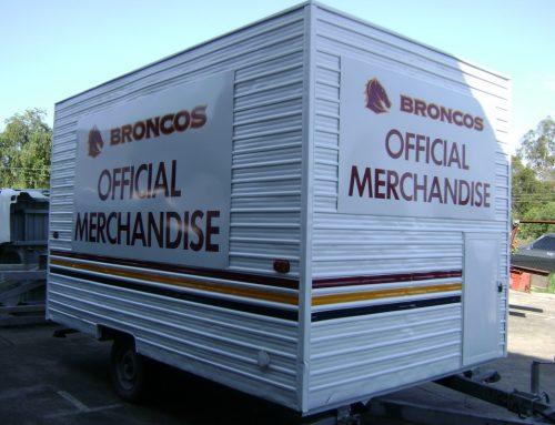 Broncos merchandise trailer